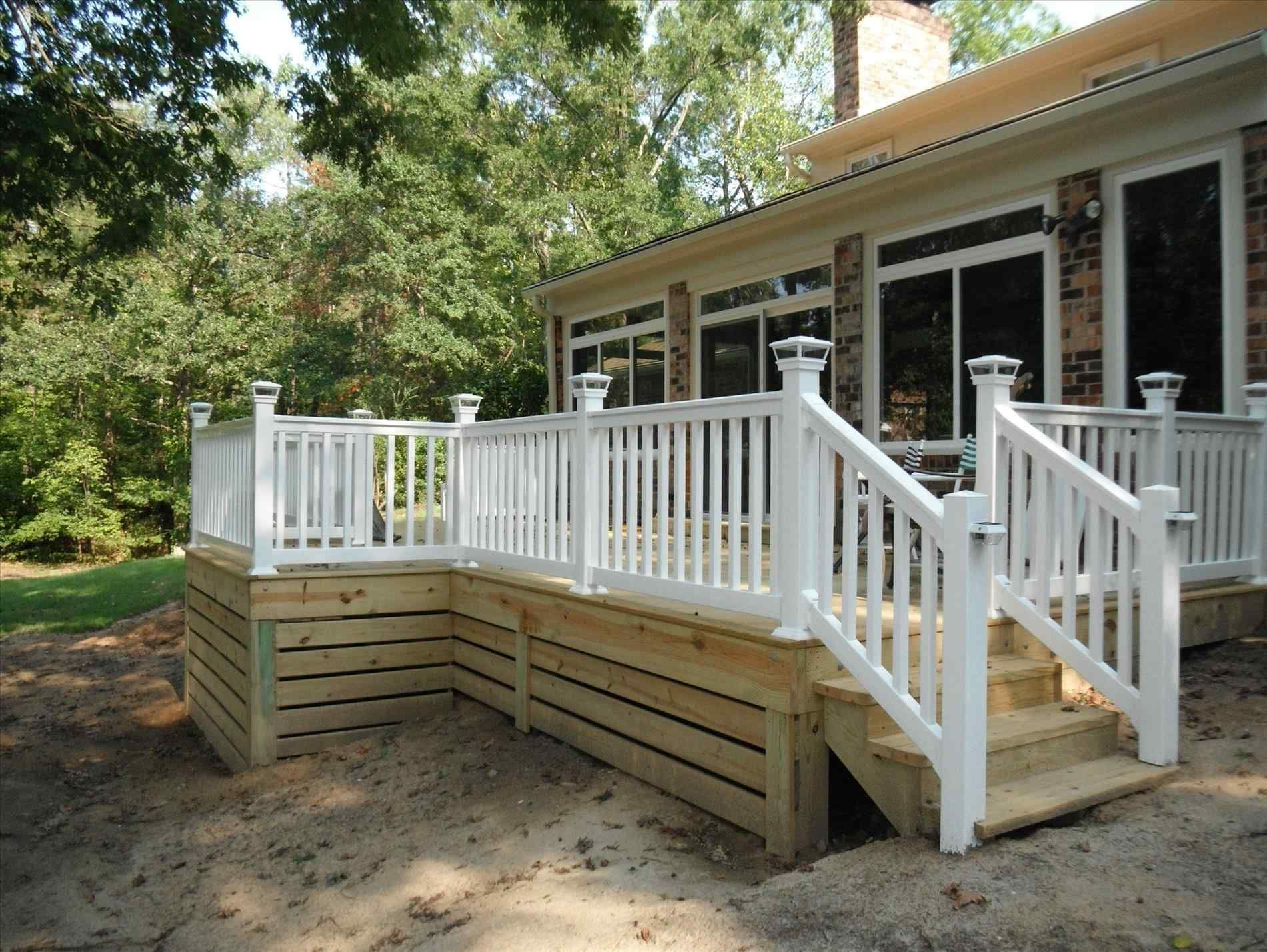 Deck Skirting Is A Material Attached To Support Post And Boards