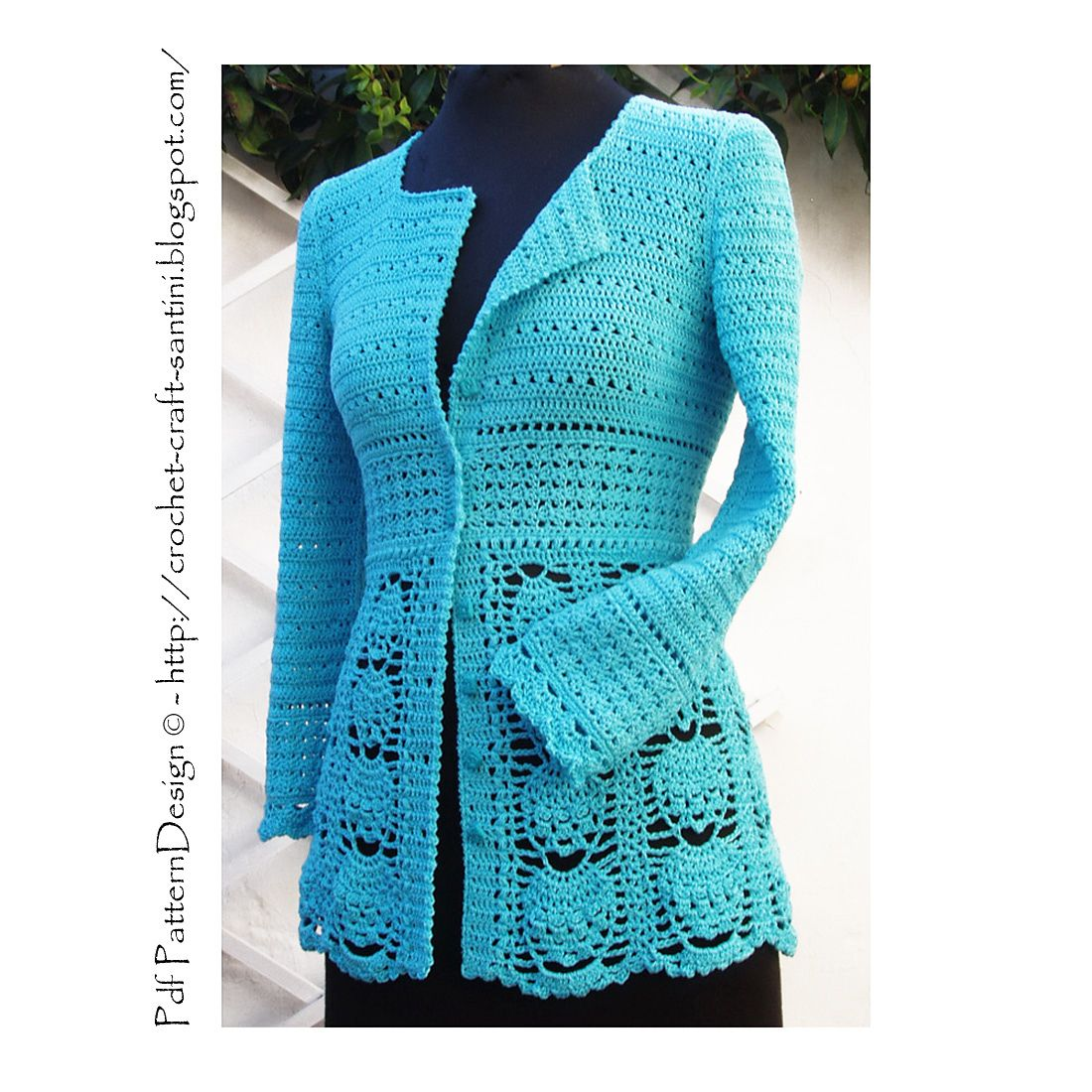 BLUE LACE CARDIGAN pattern by Sophie and Me-Ingunn Santini ...