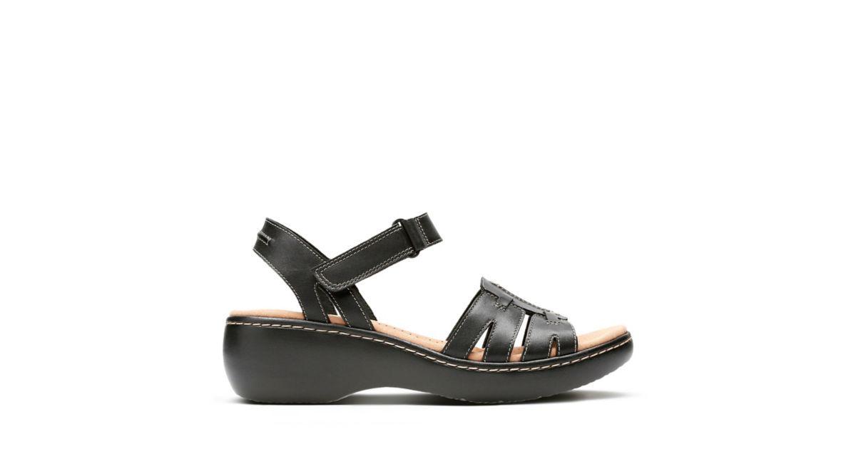 3e801eb2 Delana Nila Black Leather - Women's Wide Width Shoes - Clarks® Shoes ...