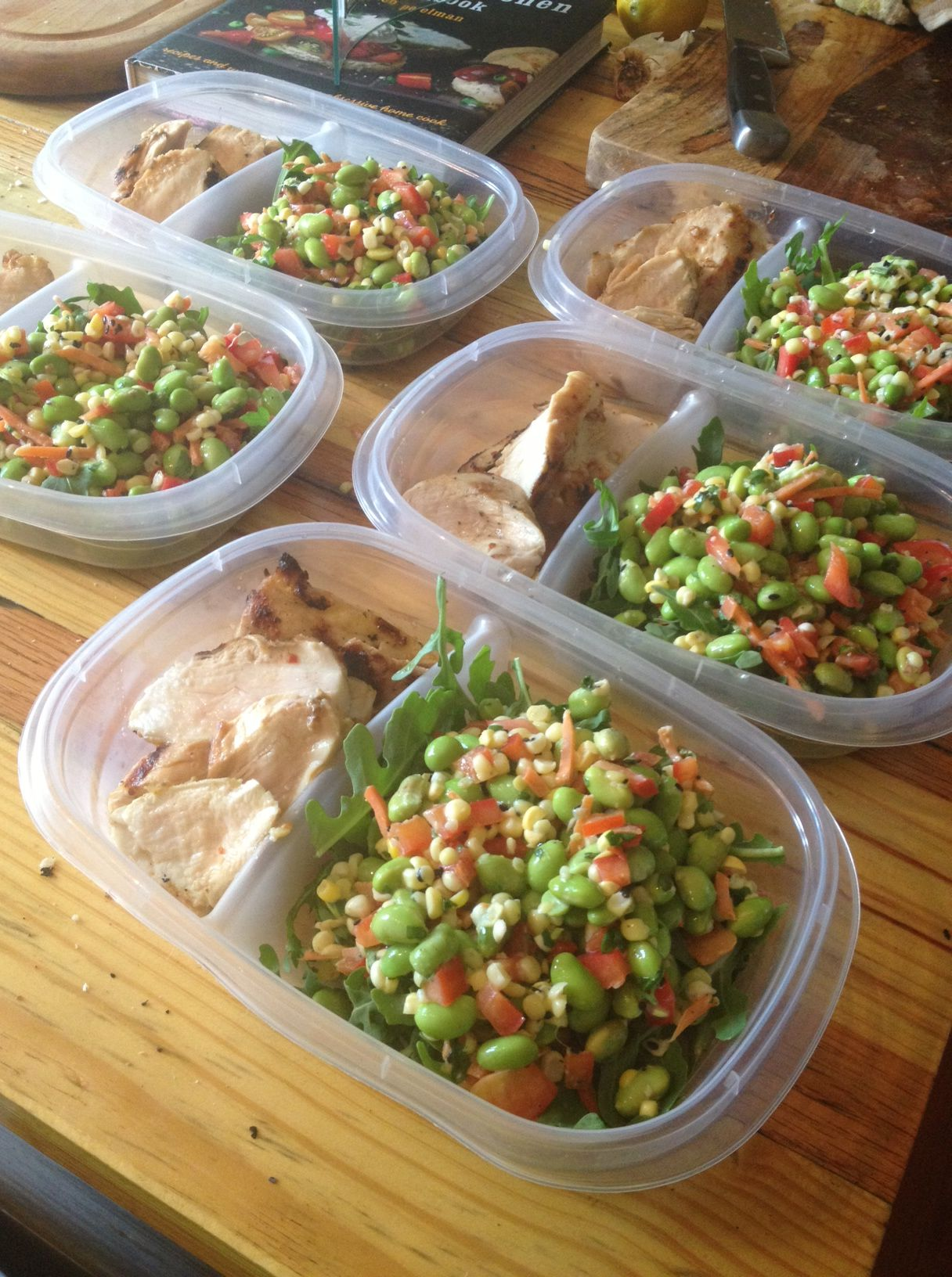lunchbox life: miso grilled chicken and edamame salad