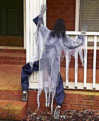 63 Life Size Climbing Zombies Halloween Haunted House Prop Decor - halloween decorations party