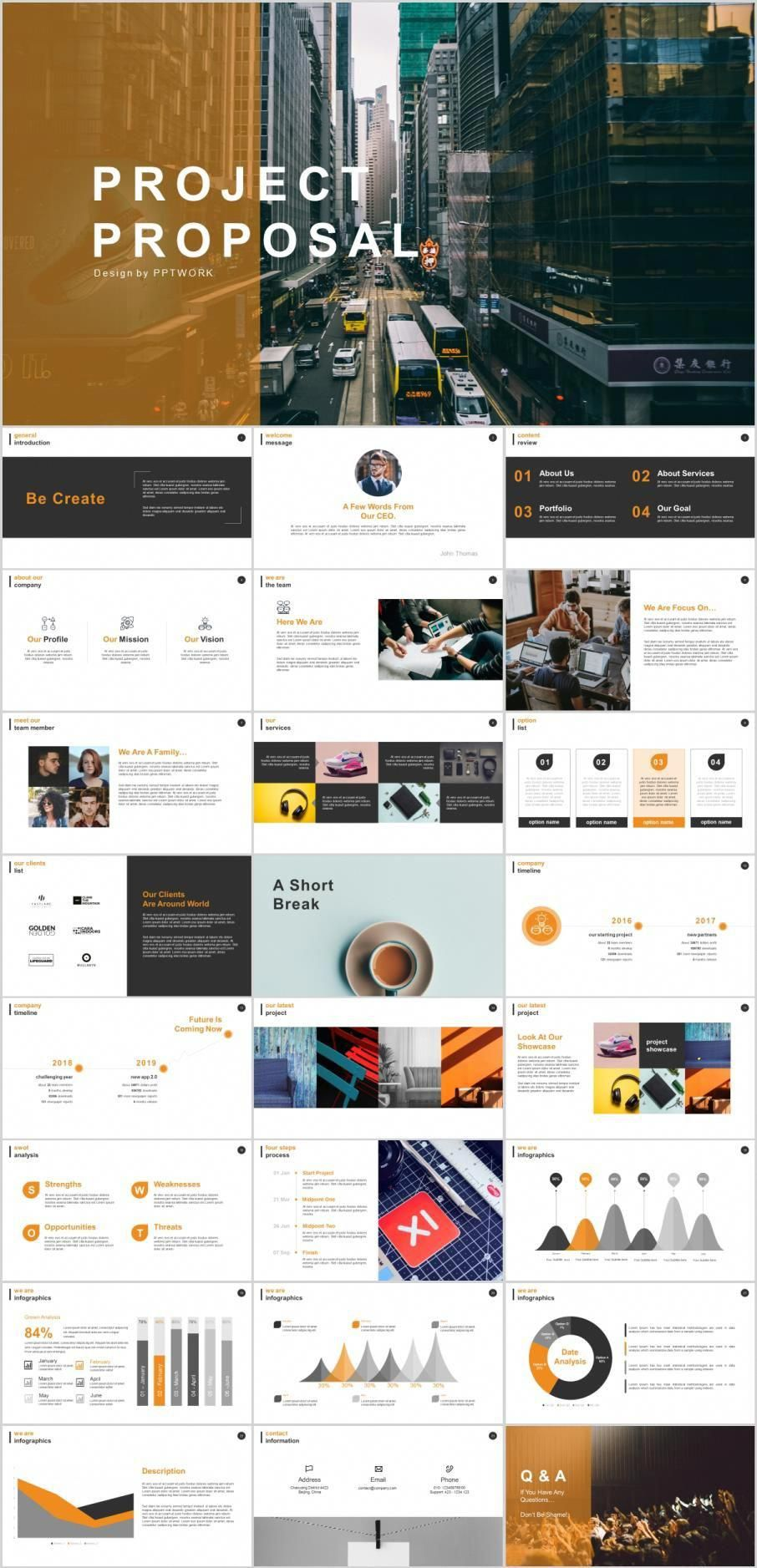 25 Best Project Proposal Powerpoint Templates Infographics