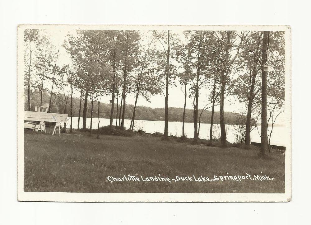 Charlotte Landing, Duck Lake, Springport, Michigan [lake in