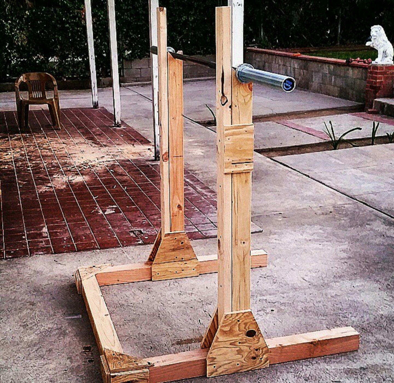 Homemade Squat Rack Diy Project Squat Rack Diy Squat Rack Diy Home Gym