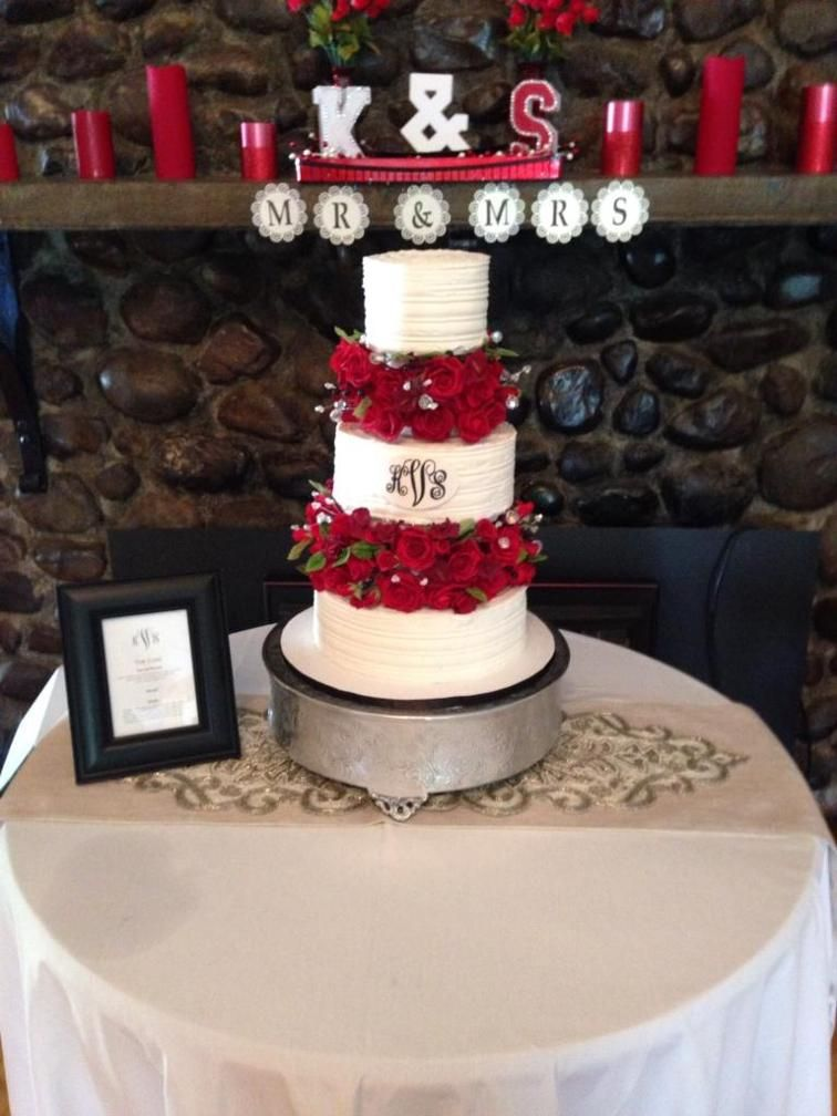 Wedding Cake With Sugar Flower Separators | Craftsy