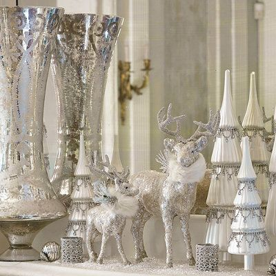 Glamorous Silver Christmas For the Home Pinterest Silver
