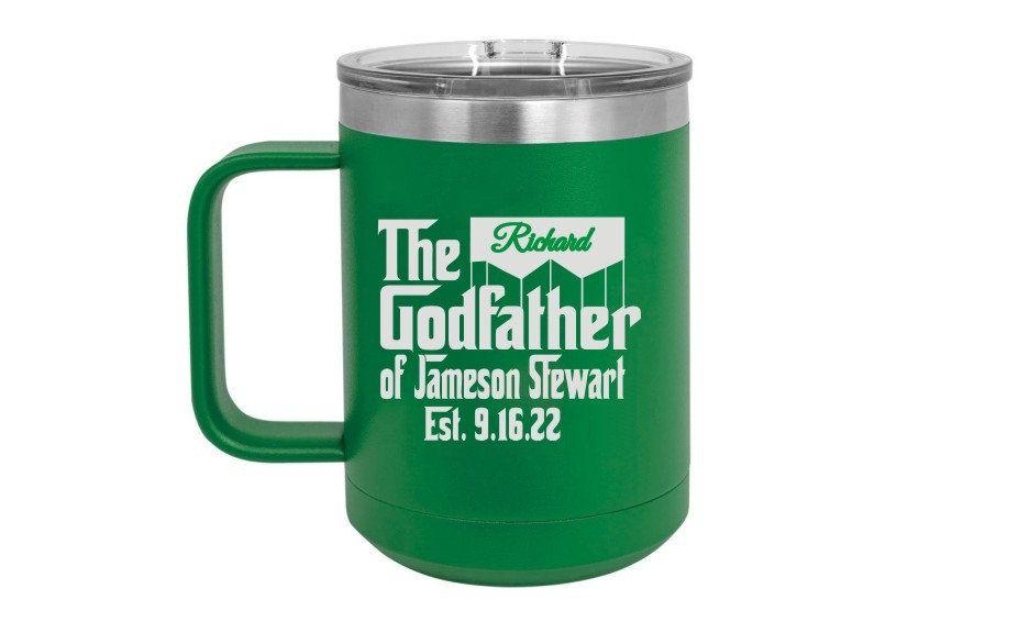 Godfather Proposal Gift Personalized Coffee Mug Insulated Etsy Personalized Coffee Mugs Personalized Coffee Mugs