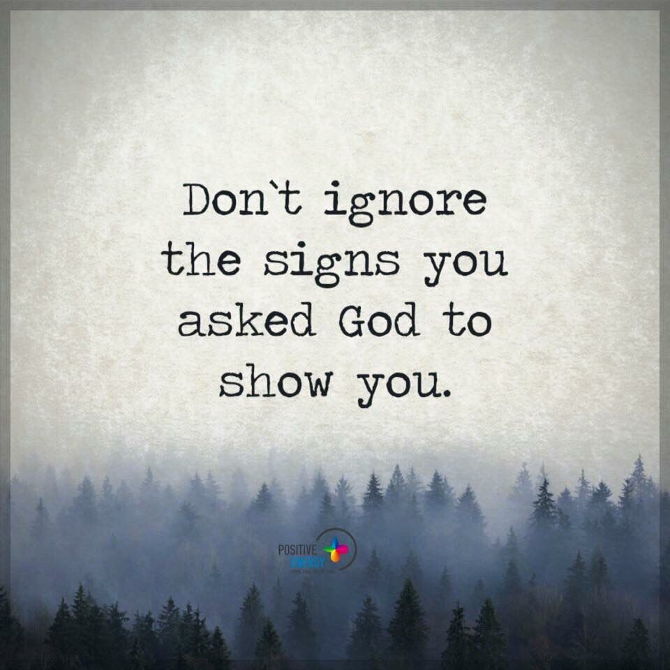 Don't ignore the signs | +++Awestruck CatholicPinnersLounge