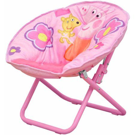 Disney Frozen Elsa Anna Folding Moon Chair Fold Up Seat Seating Bedroom
