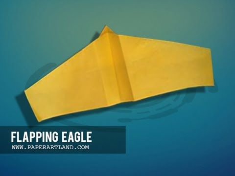 How To Make A Paper Plane That Flaps And Flies  Eagle  Tri Dang