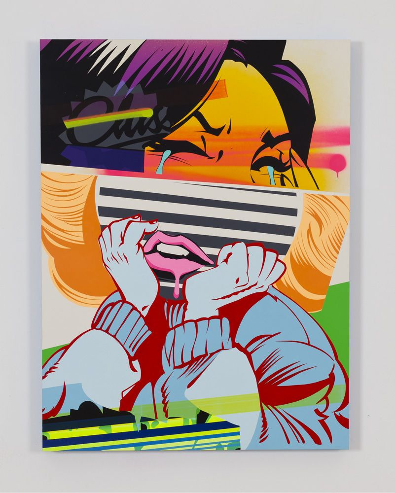 Paintings by Chicago based POSE, known for his graffiti and street art, switched to canvases full time in 2009.  via: SuperSonicArt