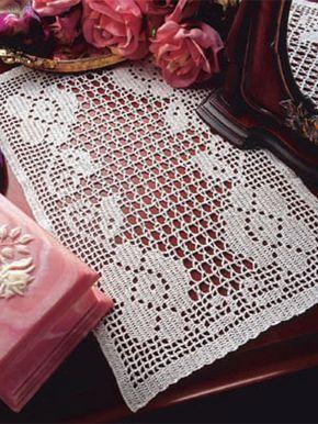 Favorite Filet HOWB Series Rose Garden Runner Doily Crochet Pattern