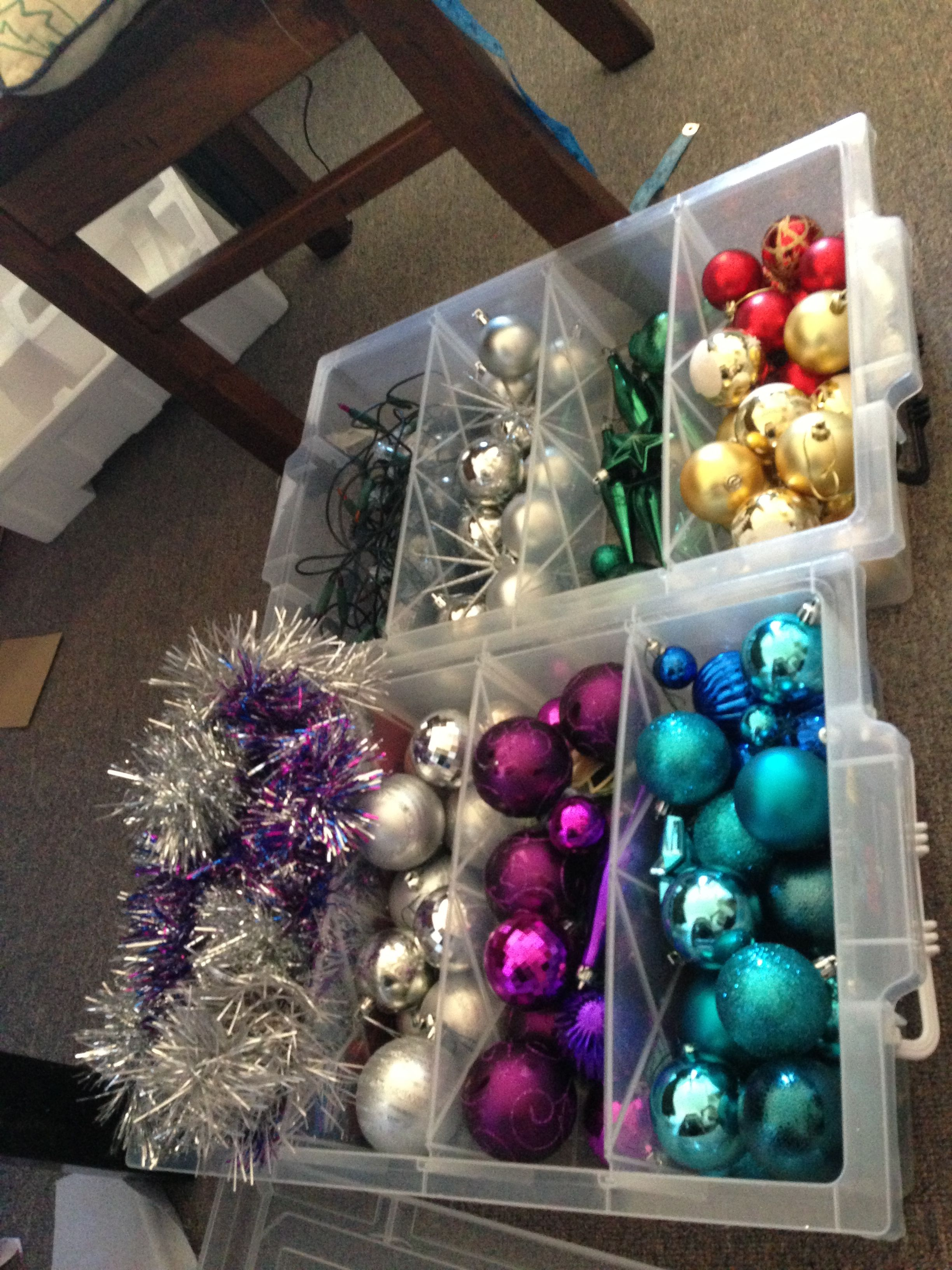Christmas Decorations Sorted With These Awesome Divided Storage Containers