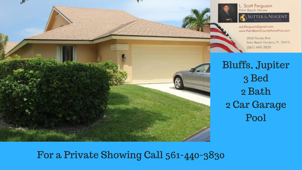 For Lease 3000 Mo 3 Bedroom Single Family Home In Ridge At The Bluffs Jupiter Florida Agentferguson Real Jupiter Fl Real Estate Buying Florida Real Estate