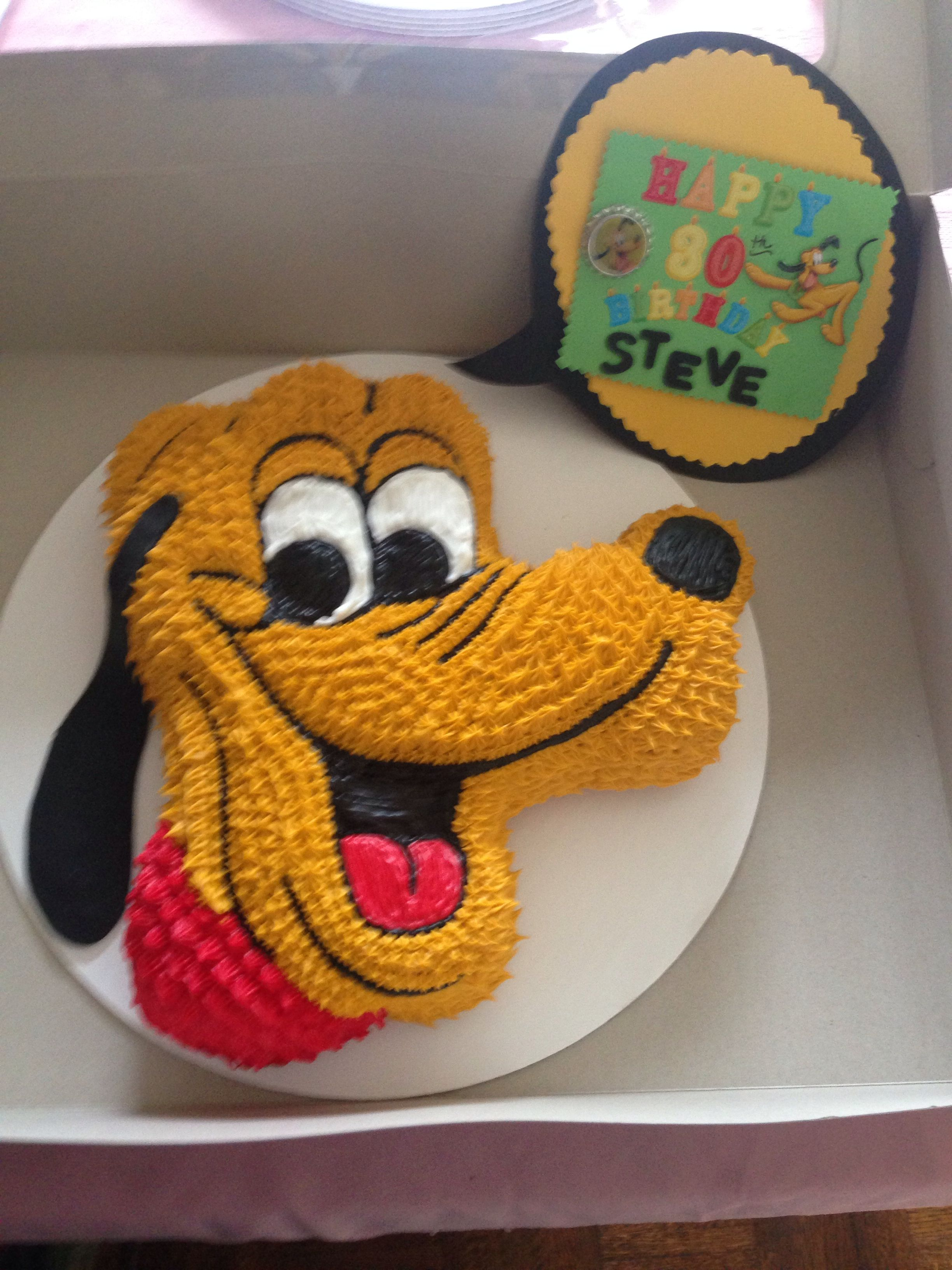 Cool Pluto Cake With Images Goofy Cake Bday Party Kids Mickey Funny Birthday Cards Online Elaedamsfinfo