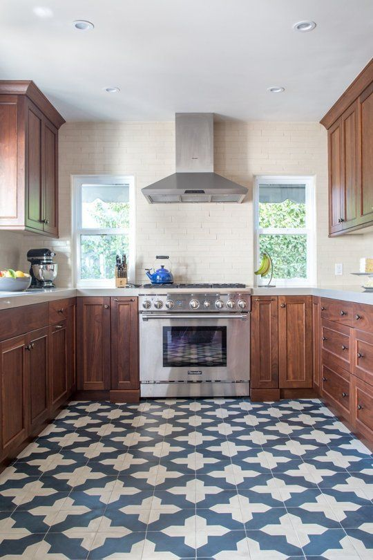 Bold Beautiful Patterned Kitchen Floors In Real Homes Apartment Therapy