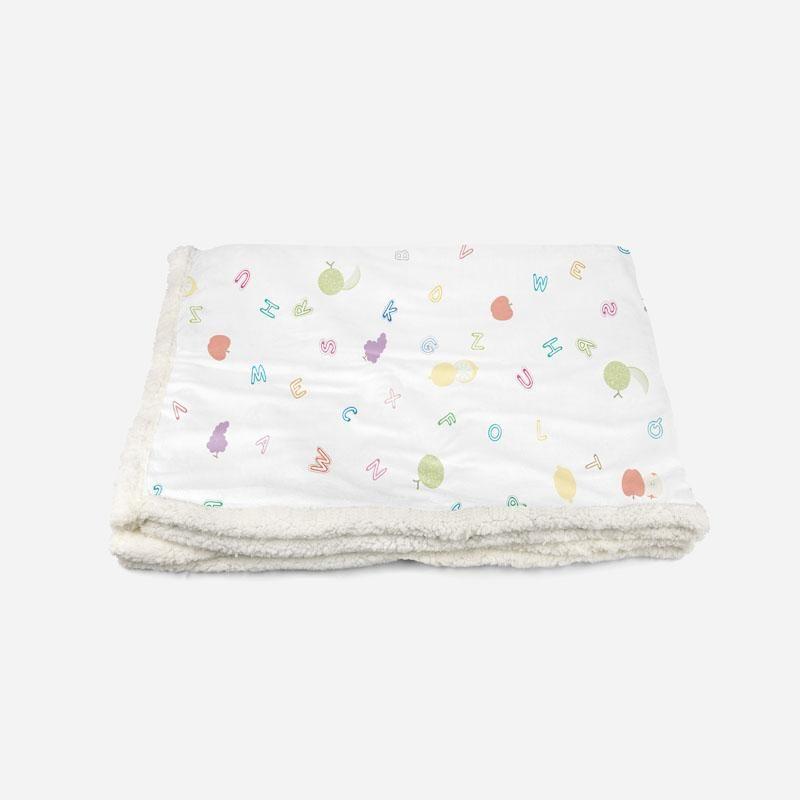 Colorful Fruits-Custom Personalised Sherpa Fleece Blanket - Throw