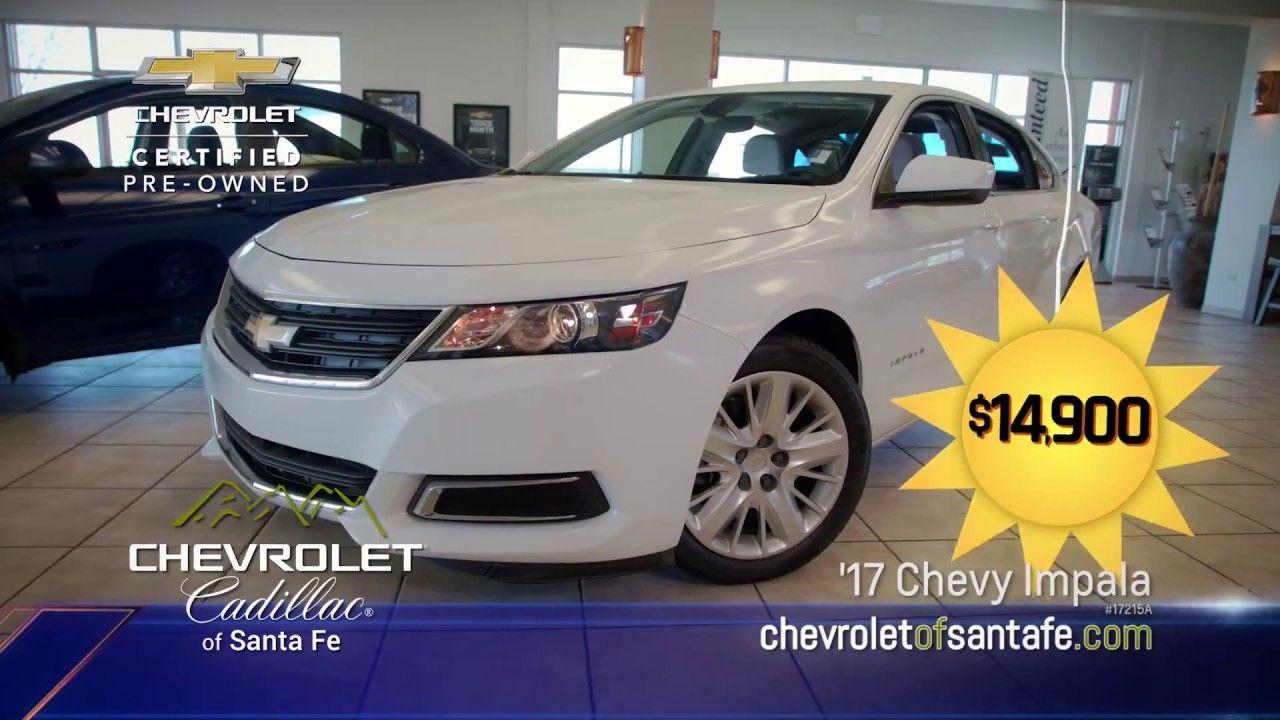 Chevrolet cadillac of santa fe certified impala auto show