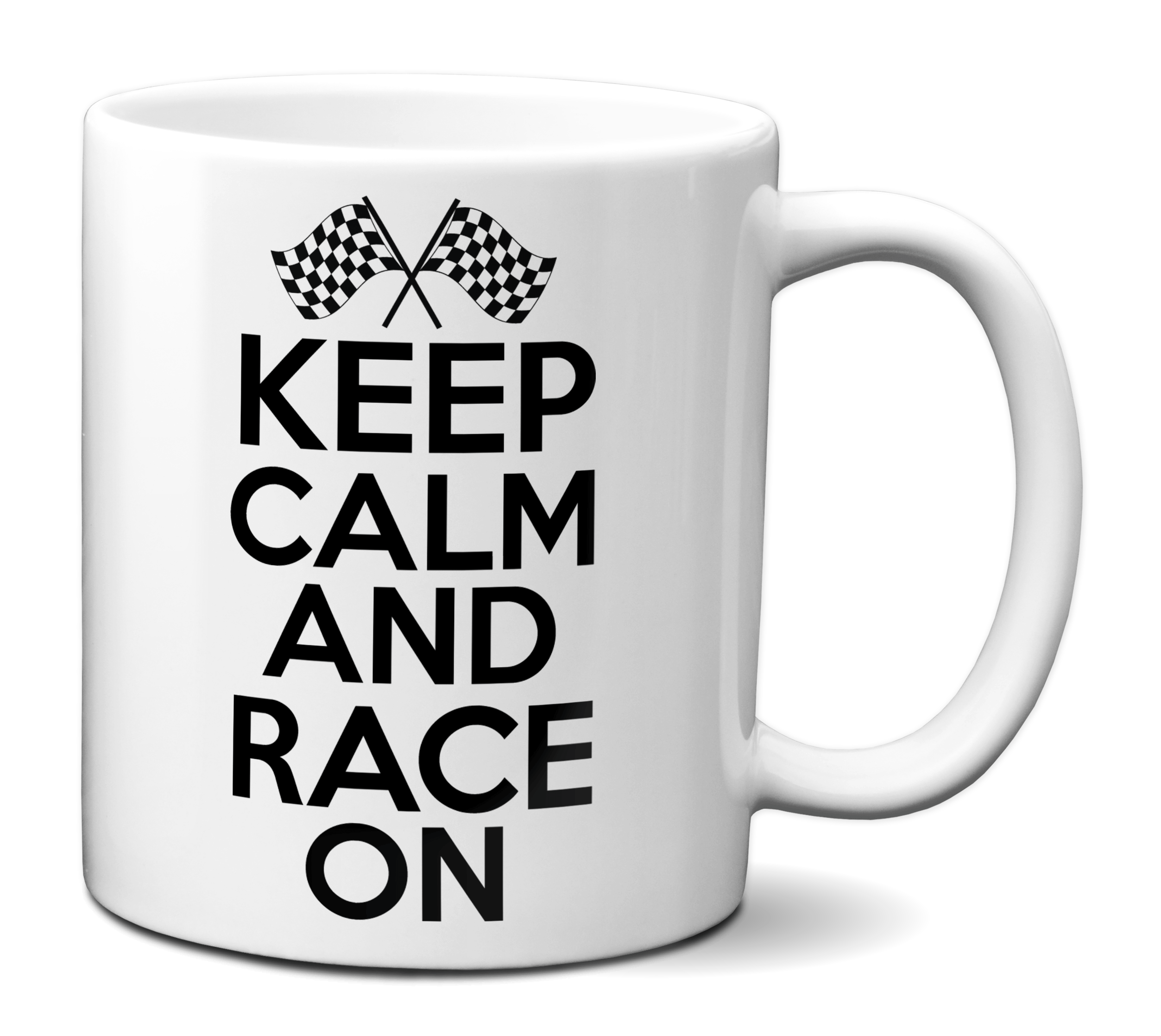 Keep Calm And Race On Mug