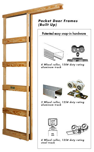 How do you install a pocket door frame?