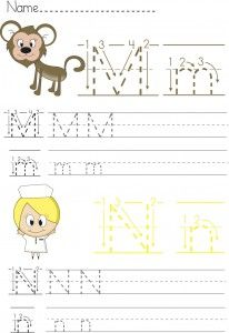 writing worksheet for preschool m n lower case letters handwritting writing worksheets. Black Bedroom Furniture Sets. Home Design Ideas