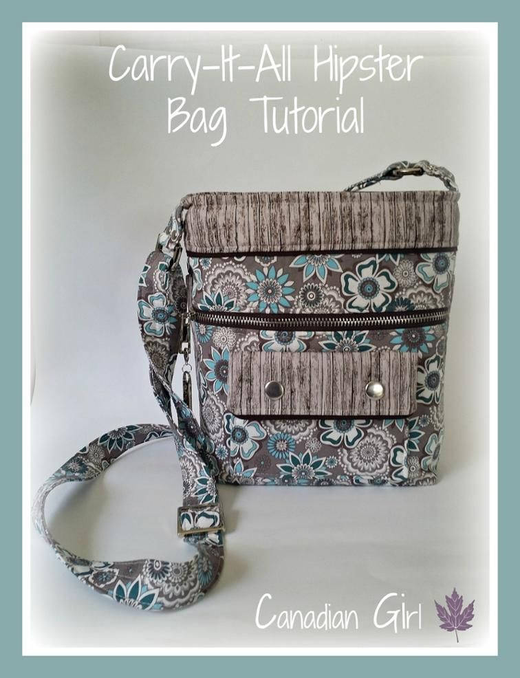 Carry-It-All Hipster Bag Tutorial