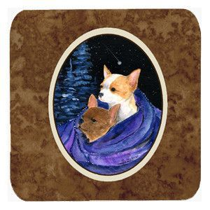 Starry Night Chihuahua Foam Coasters Set of 4