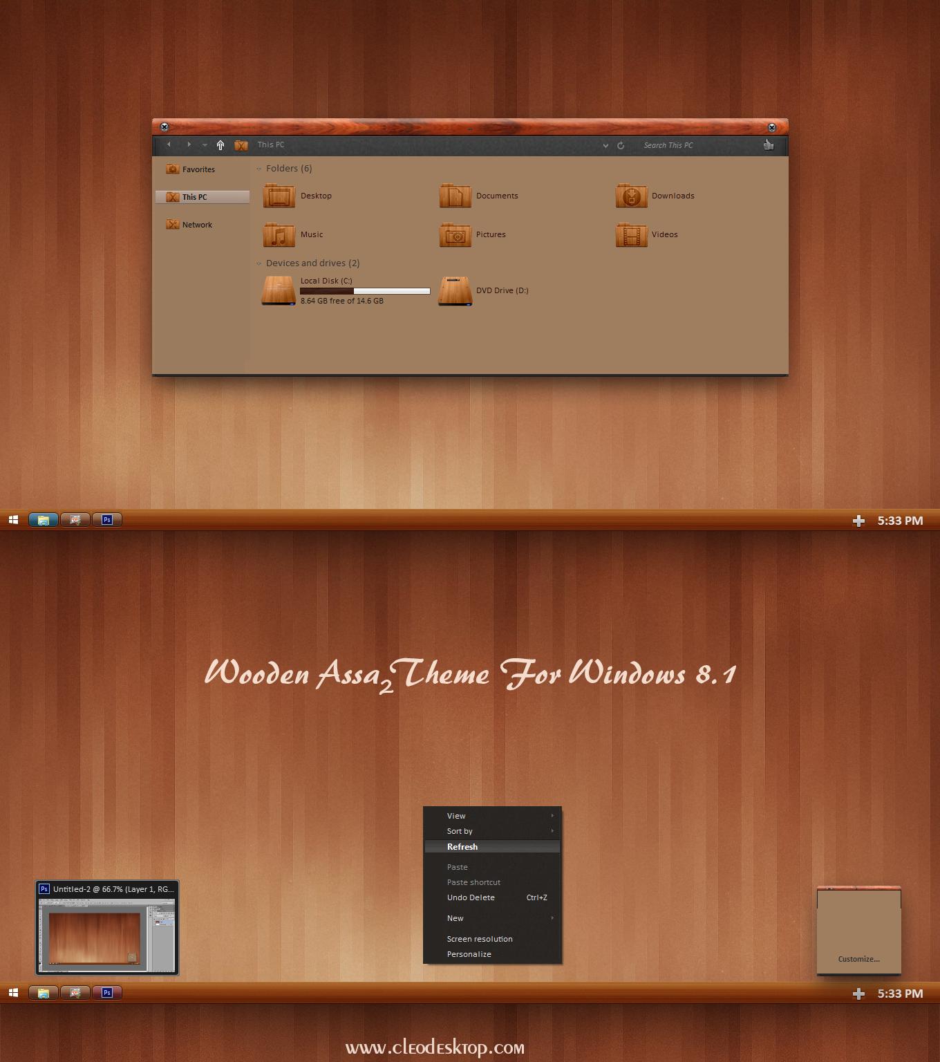 Wooden Assa 2 Theme For Windows 8 1