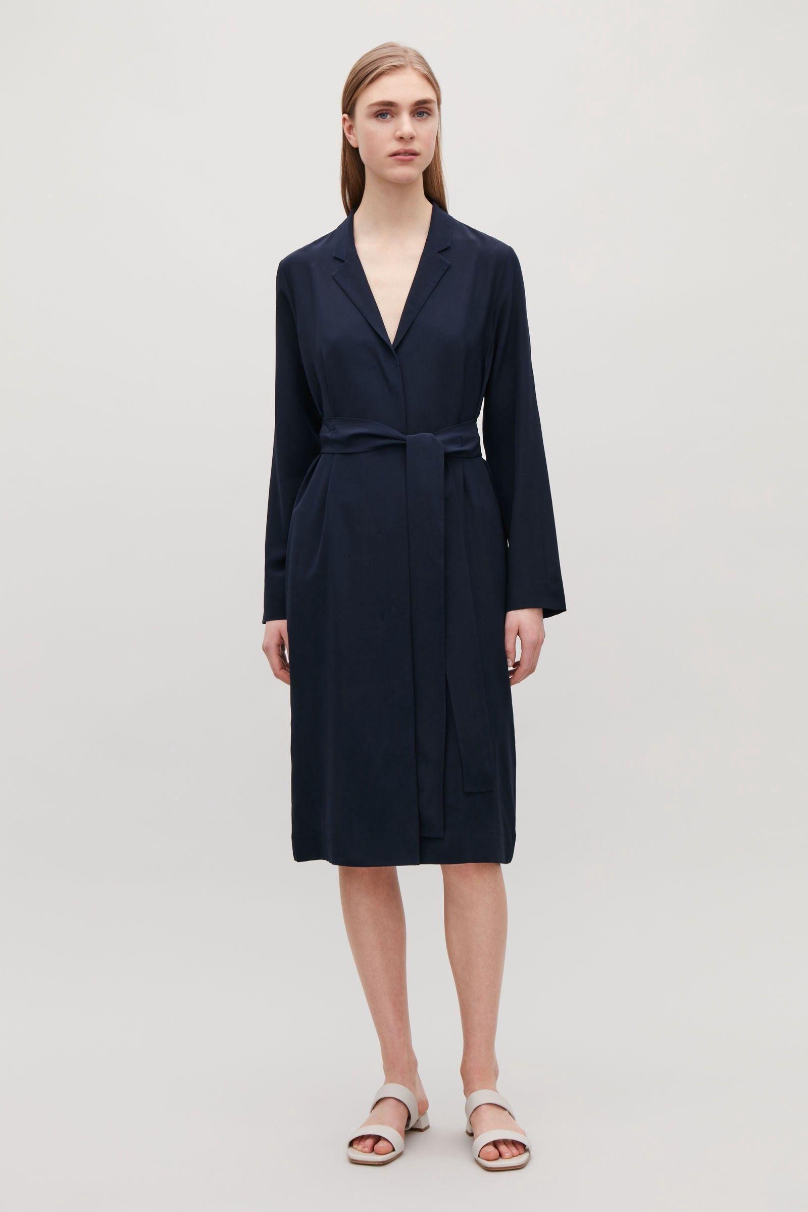 cc47b4ad54e63 Cos Silk Shirt Dress - Steel Blue 12