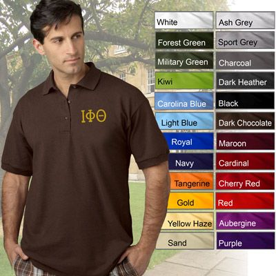 3bc8bf8ce Fraternity Embroidered Men's Pique Polo Shirts #Greek #Fraternity #Clothing