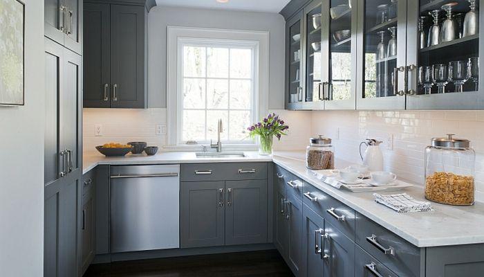 ide couleur cuisine meubles gris fleurs dans la cuisine moderne meubles de cuisine