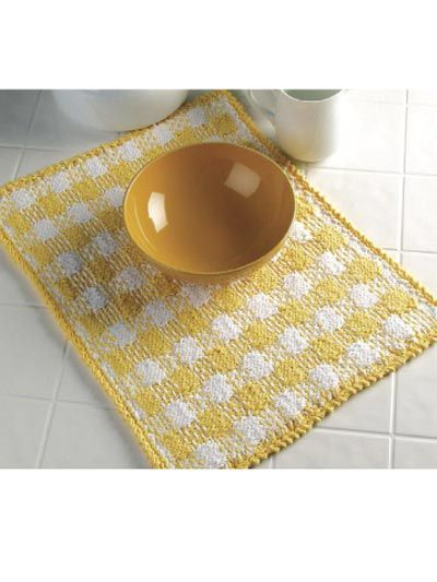 Sunny Plaid Place Mat This Is A Free Pattern For Those New To