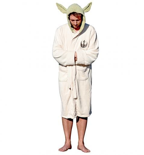 Men\'s Star Wars Yoda Toweling Hooded Dressing Gown With Ears | star ...
