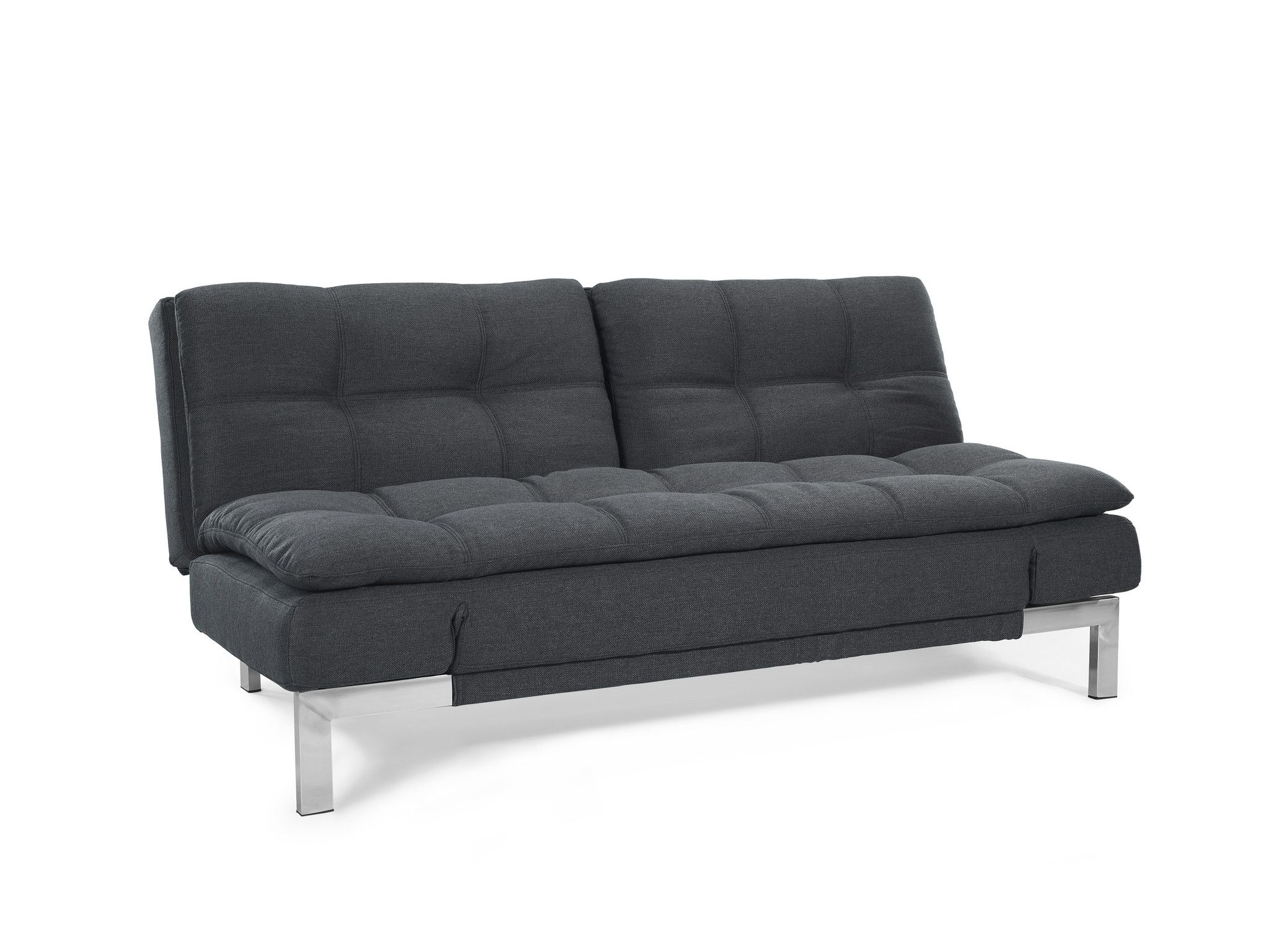 496 Lifestyle Solutions Serta Dream Convertible Boca Sofa Charcoal SABOCS3U4CC