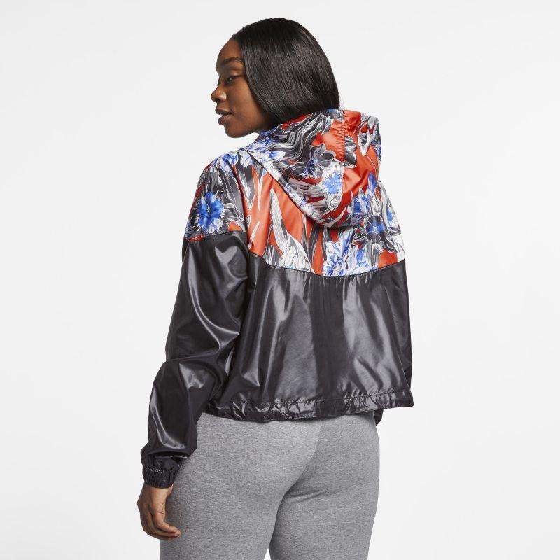 Sportswear Windrunner Women's Cropped Floral Jacket (Plus
