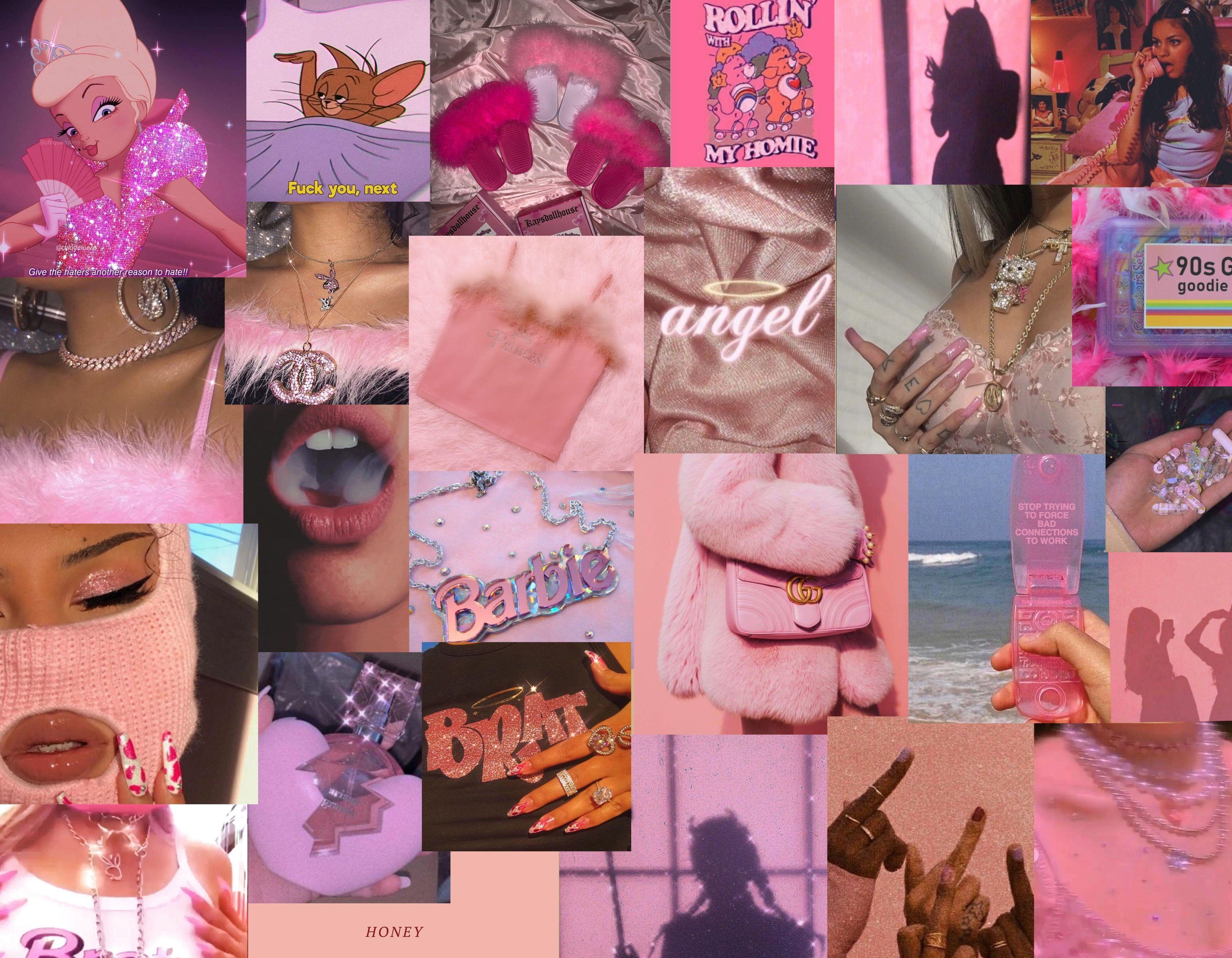 Baddie Pink Moodboard In 2020 Cute Laptop Wallpaper Desktop Wallpaper Art Aesthetic Desktop Wallpaper