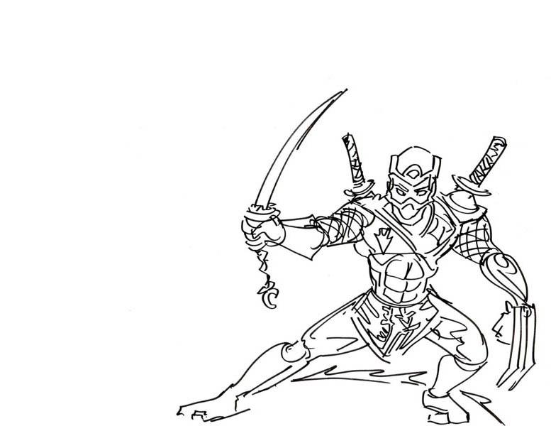 Tree Sword Ninja Coloring Page Download & Print Online
