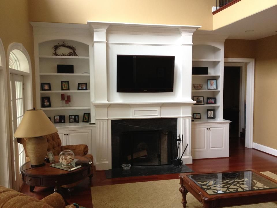 Fireplace Built Ins By Woodworking By Design Llc Farmhouse Fireplace Fireplace Built Ins Classic Fireplace