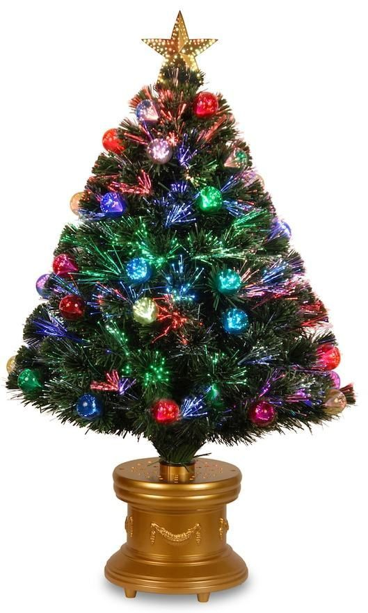 Captivating National Tree Company 3 Ft. Fiber Optic Artificial Christmas Tree With  Ornaments Floor Decor, Green | Tree Company And Products