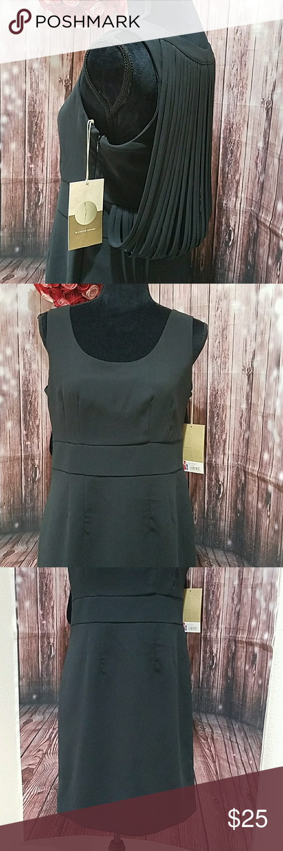Little Black Dress Target Limited Edition Round Neck Sleeveless Dress With Drapy Back Detailing Lined B Target Dresses Clothes Design Limited Edition Dress [ 1740 x 580 Pixel ]