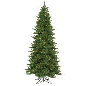 Vickerman 8 5 Ft Pre Lit Camdon Fir Slim Artificial Christmas Tree Wit Slim Artificial Christmas Trees Artificial Christmas Tree Slim Christmas Tree