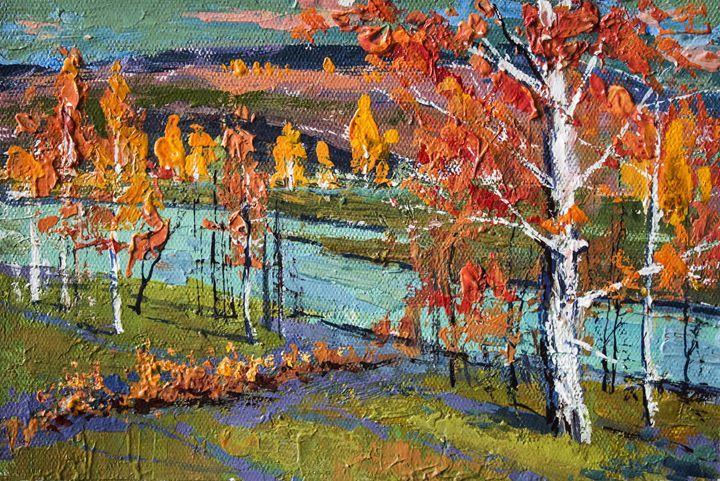 AutumnOriginal acrylic painting - Artgallery - Paintings & Prints Landscapes & Nature Forests Rainforest… | ArtPal thumbnail
