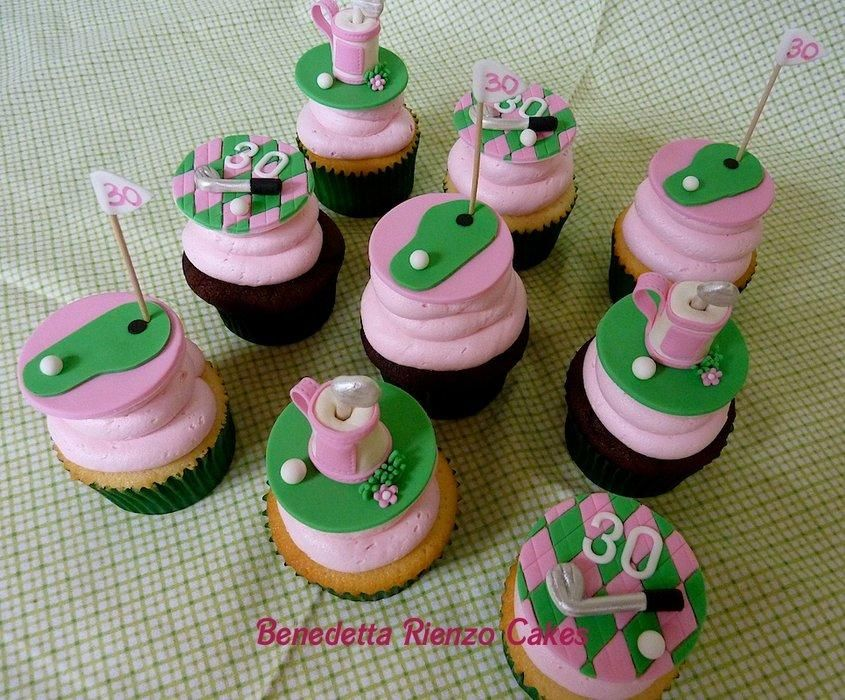 Girly Golf Cupcakes - Cake by Benni Rienzo Radic