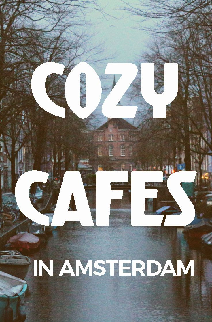 AMSTERDAM COZY CAFES - A sleeping cat, flickering candles and a comfortable relaxed atmosphere makes many Amsterdam cafes super gezellig.  #AMSTERDAM #gezellig #cozy #bars #cafes