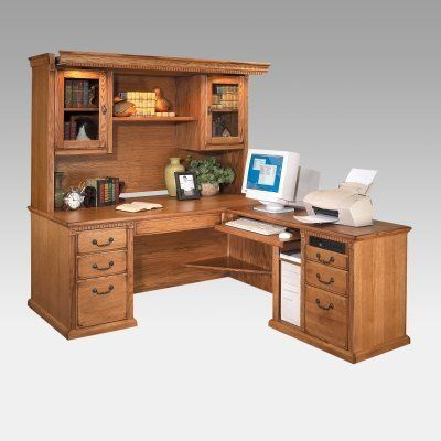 Martin Huntington Oxford L-Shaped Desk and Hutch by Kathy Ireland