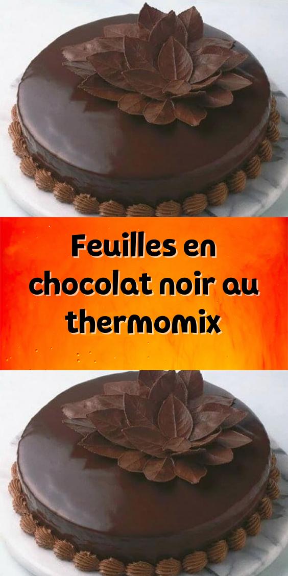 Feuilles En Chocolat Noir Au Thermomix Chocolat Noir Chocolat Thermomix