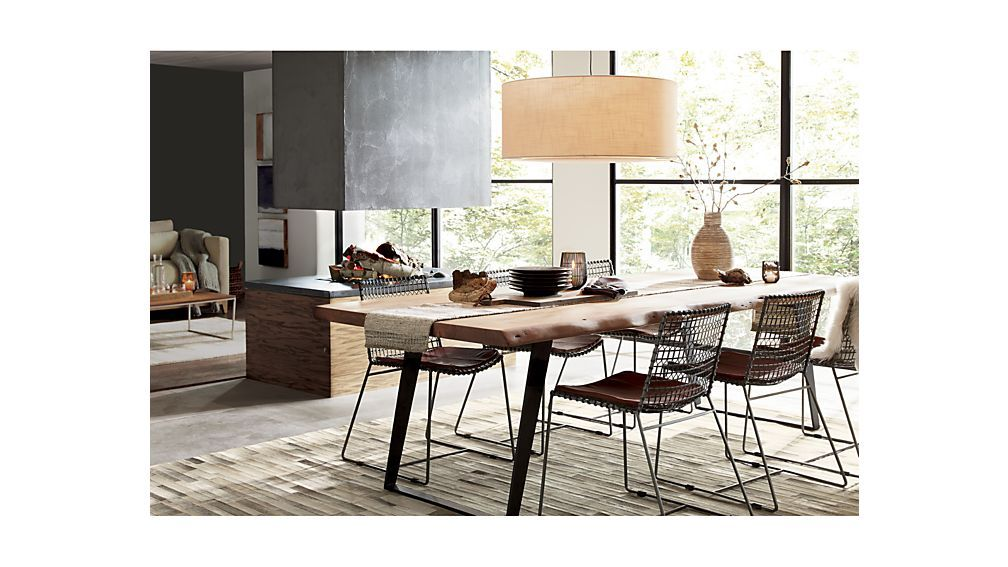 Yukon Natural Dining Table Crate And Barrel Metal Dining Chairs Casual Dining Rooms Live Edge Dining Table