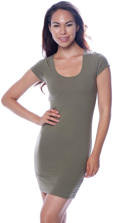 448c691b5dcf4 Sexy Basic Bodycon Tight Stretch Mini T-Shirt Dress | c l o t h e s ...