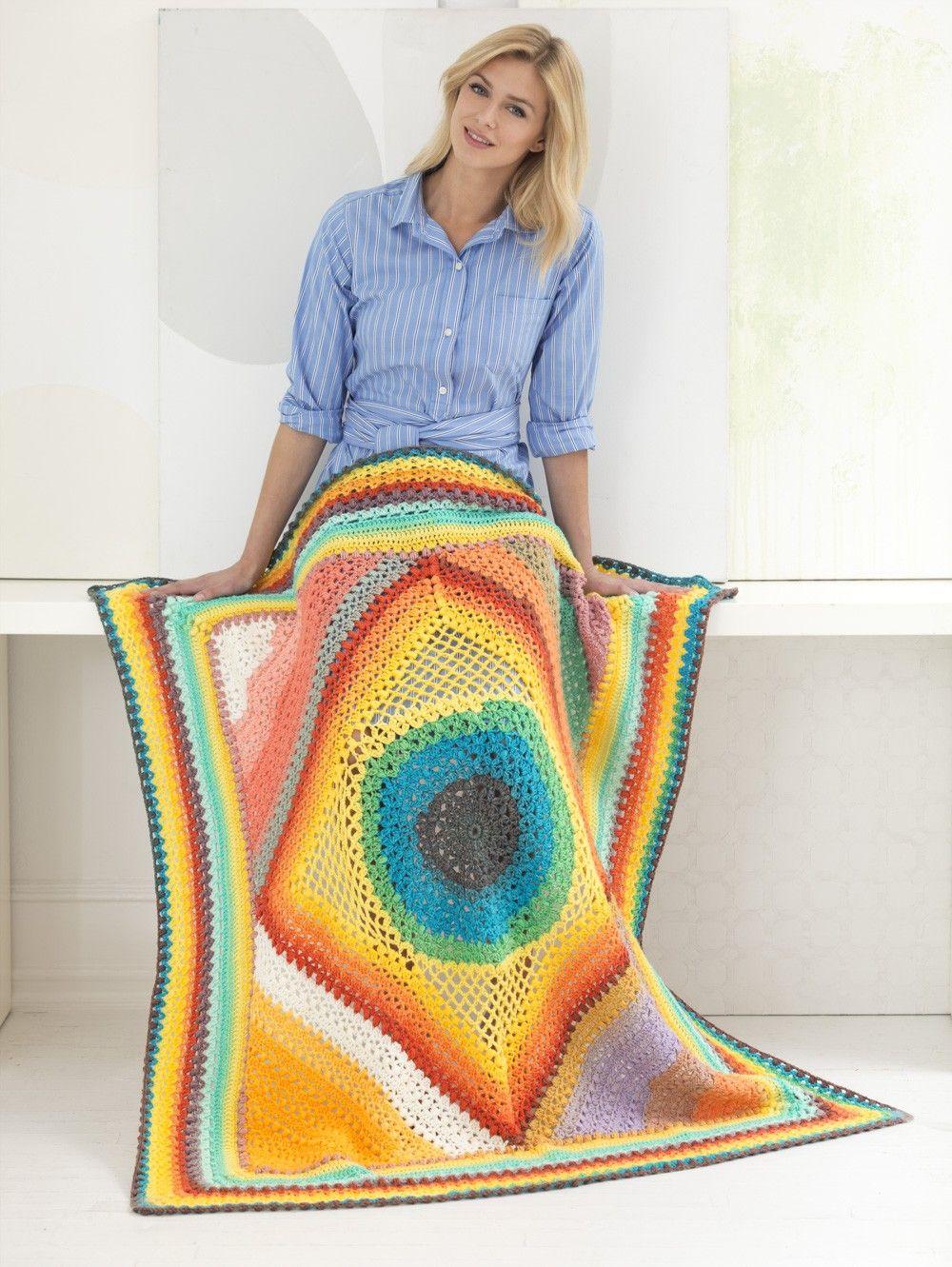 Best Mandala Yarn Free Crochet Patterns Mandala Yarn Afghan