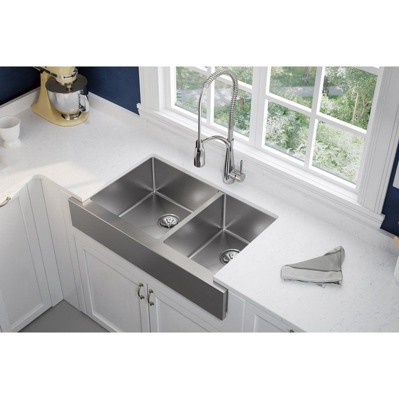 Elkay Crosstown 36 L X 20 W Double Basin Farmhouse Kitchen Sink